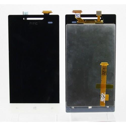 Дисплей для HTC 8S Windows Phone с тачскрином Белый