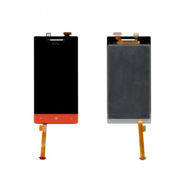 Дисплей для HTC 8S Windows Phone с тачскрином Красный