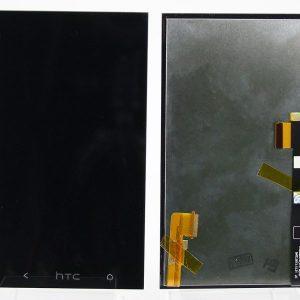 Дисплей для HTC One M7 с тачскрином Черный