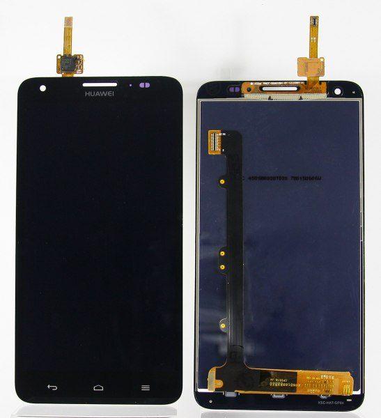 Дисплей для Huawei Honor 3X с тачскрином Черный