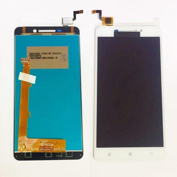 Дисплей для Lenovo A5000 с тачскрином Белый