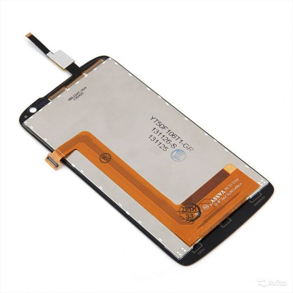 Дисплей для Lenovo S820 с тачскрином Черный