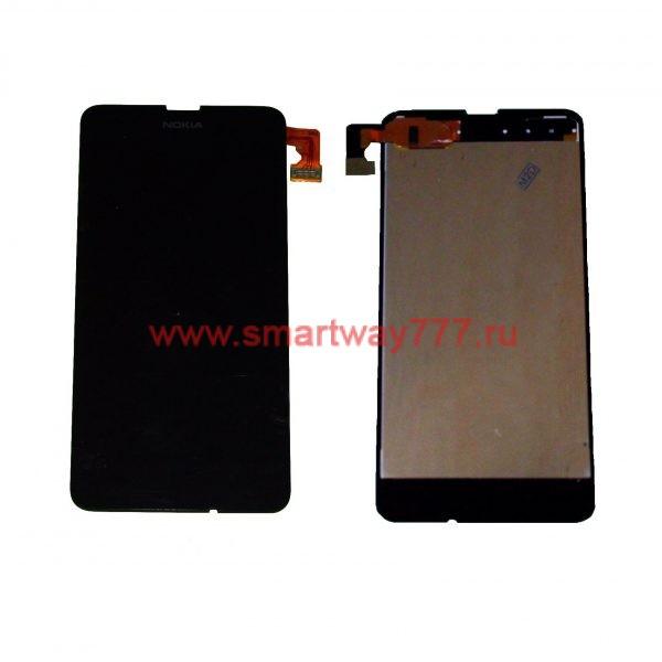 Дисплей для Nokia 630/630 Dual/635 с тачскрином без рамки Черный