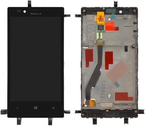Дисплей для Nokia 720 с тачскрином Черный