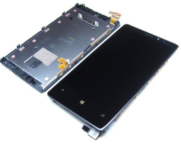 Дисплей для Nokia 920 с тачскрином на рамке Черный