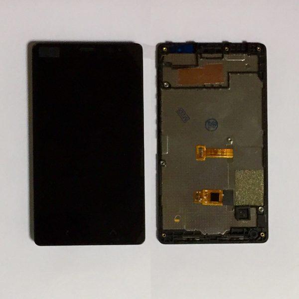 Дисплей для Nokia X2 Dual (RM-1013) в сборе с тачскрином Черный
