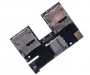 Шлейф для HTC Desire 300 dual /Desire 500 dual с разъемом sim