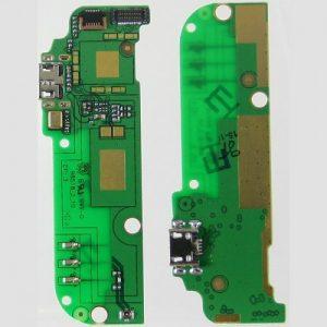 Шлейф для HTC Desire 616 Dual на плате с разъемом зарядки / микрофон