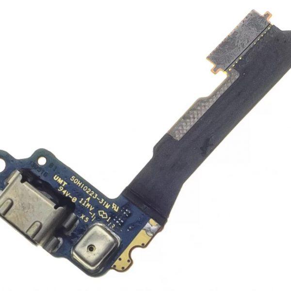 Шлейф для HTC One Mini на плате с разъемом зарядки / микрофон
