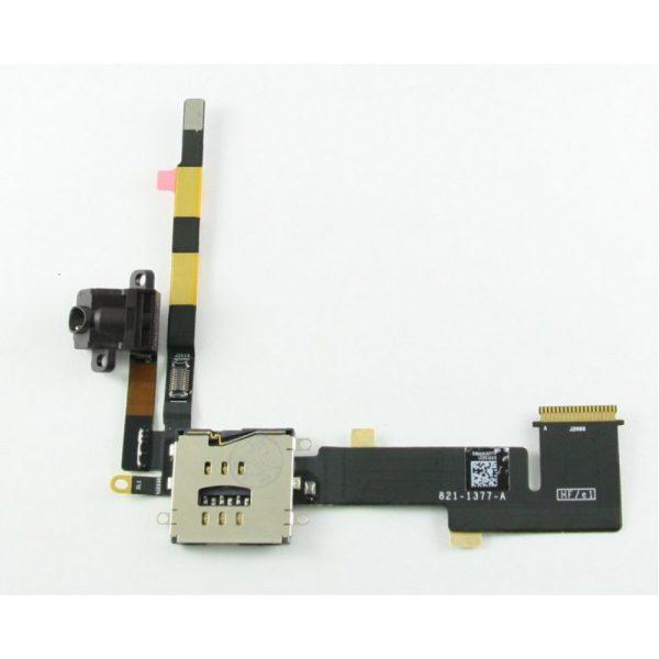 Шлейф для iPad 2 на разъем гарнитуры / SIM коннектор WiFi+3G