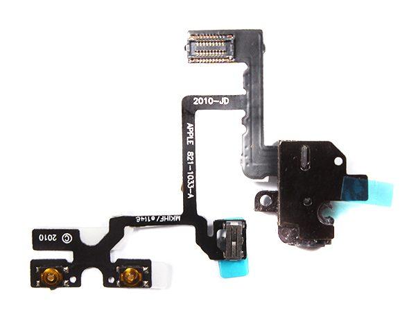 Шлейф для iPhone 4 на разъем гарнитуры Черный
