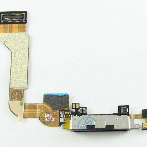 Шлейф для iPhone 4 с разъемом зарядки / микрофон Черный