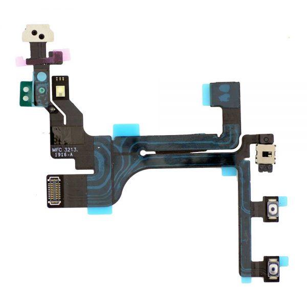 Шлейф для iPhone 5C на кнопку включения / кнопки громкости / микрофон