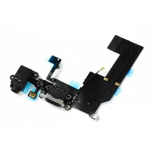 Шлейф для iPhone 5C с разъемом зарядки / разъем гарнитуры / микрофон Черный