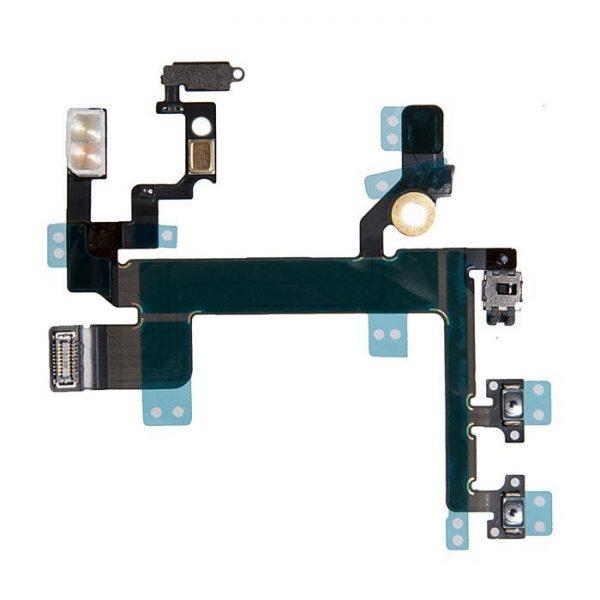 Шлейф для iPhone 5S на кнопку включения / кнопки громкости / микрофон / вспышка