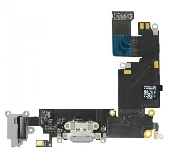 Шлейф для iPhone 6 Plus с разъемом зарядки / разъем гарнитуры / микрофон Серый