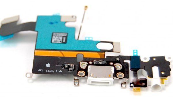 Шлейф для iPhone 6 с разъемом зарядки / разъем гарнитуры / микрофон Белый