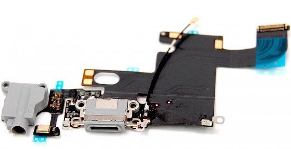Шлейф для iPhone 6 с разъемом зарядки / разъем гарнитуры / микрофон Черный