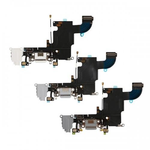 Шлейф для iPhone 6S с разъемом зарядки / разъем гарнитуры / микрофон Серый