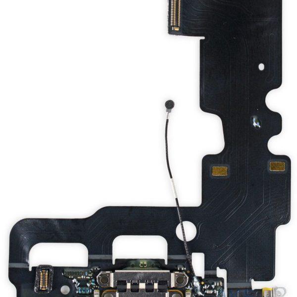 Шлейф для iPhone 7 с разъемом зарядки / микрофон Черный
