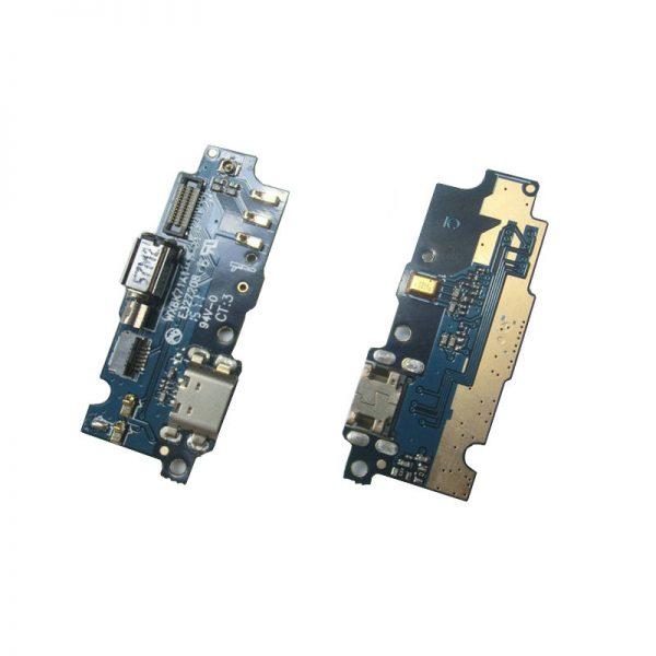 Шлейф для Meizu M2 mini на плате с разъемом зарядки/микрофон/вибро