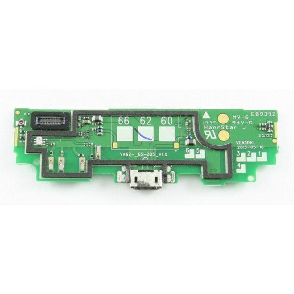 Шлейф для Nokia 625 плата с разъемом зарядки / микрофон