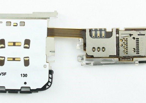 Шлейф для Nokia C3-01 на SIM+MMC с подложкой клавиатуры