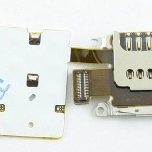 Шлейф для Nokia X3-02 с подложкой клавиатуры с коннектором SIM+MMC
