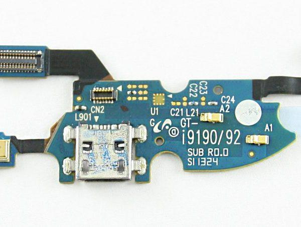 Шлейф для Samsung i9190 / i9195 на плате с разъемом зарядки / микрофон