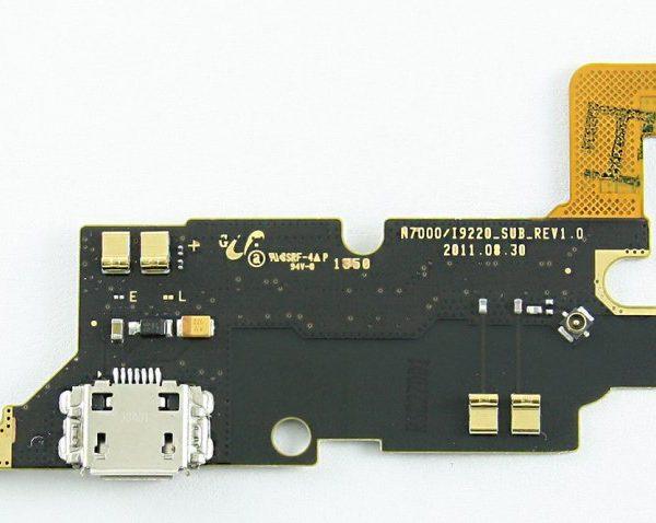 Шлейф для Samsung N7000 / i9220 с разъемом зарядки / микрофон Оригинал