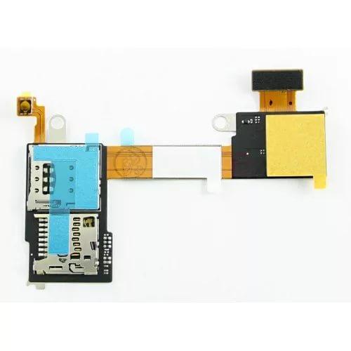 Шлейф для Sony D2303 / D2403 (M2 / M2 Aqua) c разъемом SIM / MMC