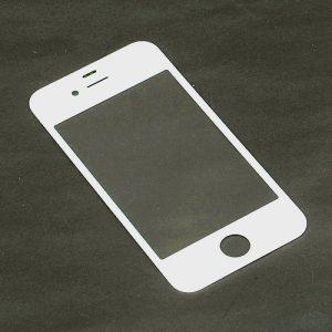 Стекло для iPhone 4/4S Белое (для переклейки)