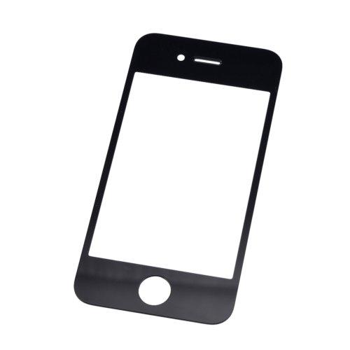 Стекло для iPhone 4/4S Черное (для переклейки)