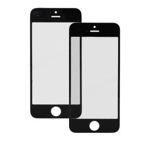 Стекло для iPhone 5/5S Черное (для переклейки)