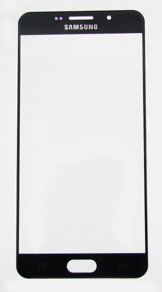 Стекло для Samsung A710F (A7 2016) Черное