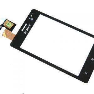 Тачскрин для Sony ST27i (Go) Черный