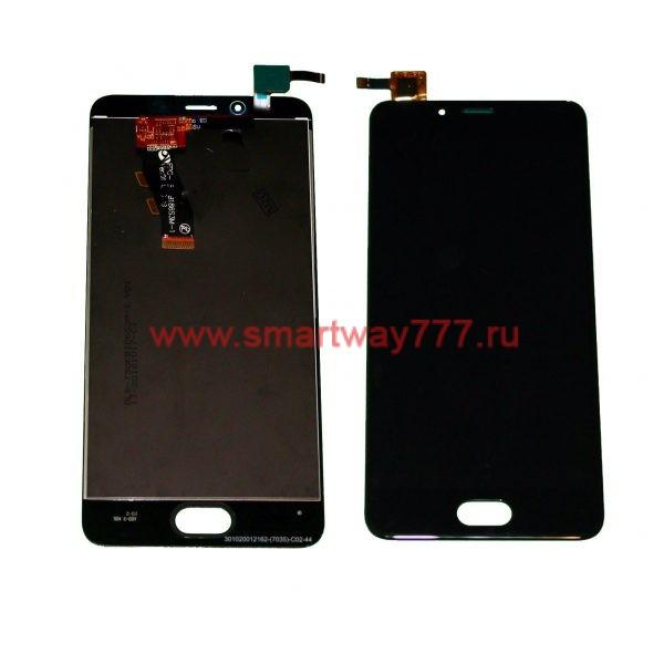 Дисплей для Meizu U10 с тачскрином Черный