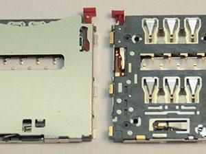 Контакты SIM для Sony C6903/D6503/D5303/C6833/D5503 (Z1/Z2/T2/Z Ultra/Z1 Compact)