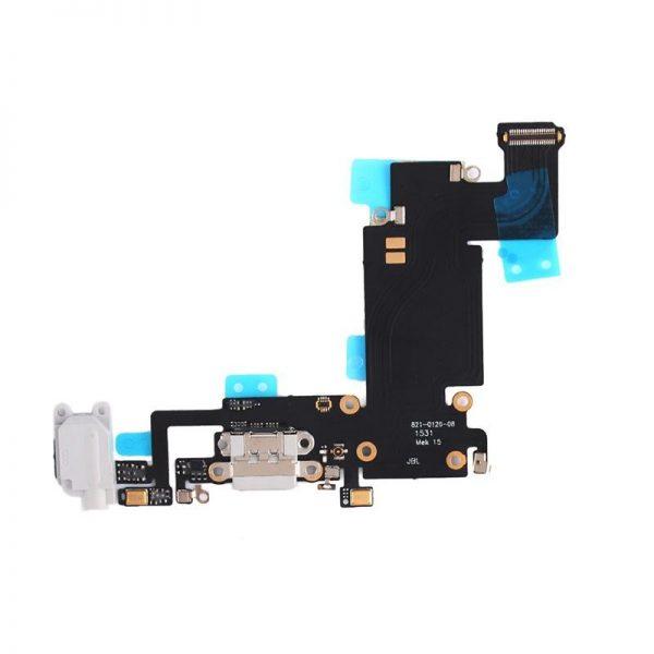 Шлейф для iPhone 6S Plus с разъемом зарядки/гарнитура/микрофон. Белый