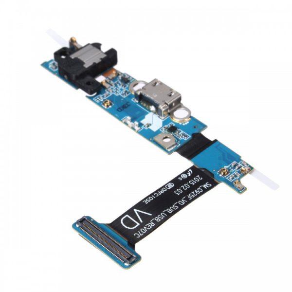 Шлейф для Samsung G925F (S6 Edge) на плате с разъемом зарядки/гарнитуры/микрофон/Home