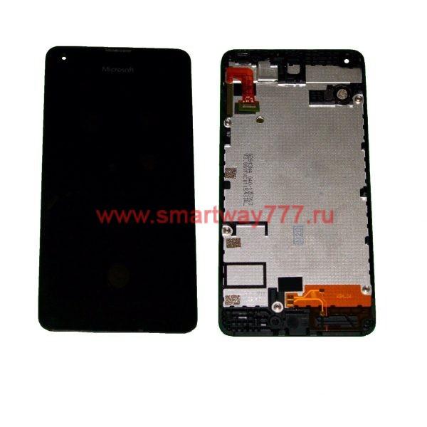 Дисплей для Nokia 550 (RM-1127) с тачскрином Черный