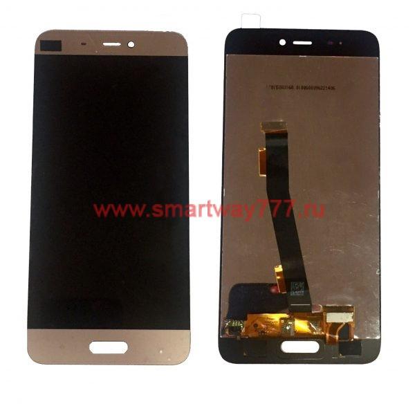 Дисплей для Xiaomi Mi 5 с тачскрином Золотой