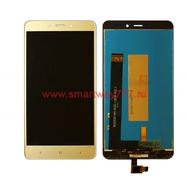 Дисплей для Xiaomi Redmi Note 4 с тачскрином Золото