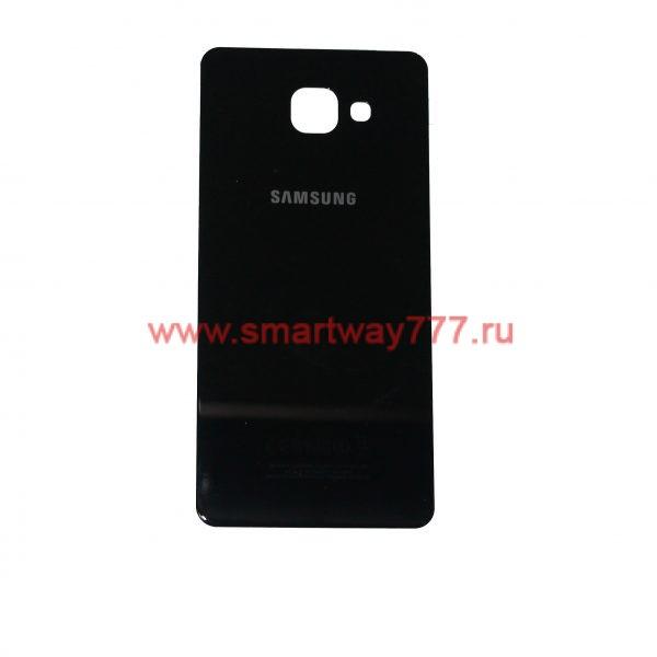 Задняя крышка для Samsung A710F (A7 2016) Черная