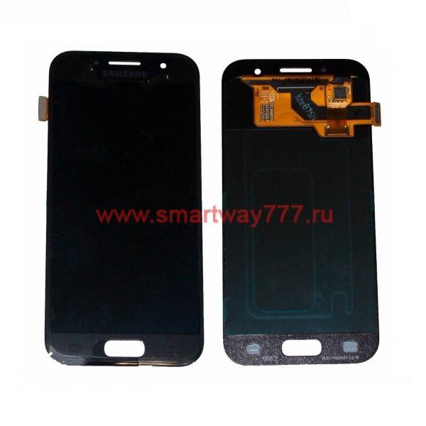 Дисплей для Samsung A3 (2017) / A320F Черный (100% ОРИГИНАЛ сервис)