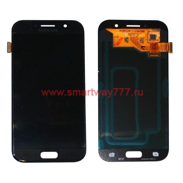 Дисплей для Samsung A5 (2017) / A520 Черный (100% ОРИГИНАЛ сервис)