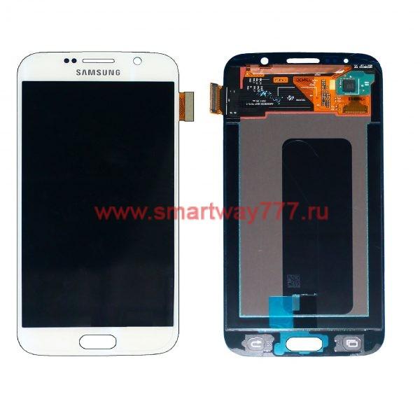 Дисплей для Samsung S6 / G920F Белый (100% ОРИГИНАЛ сервис)