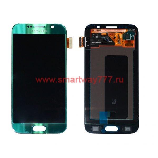 Дисплей для Samsung S6 / G920F Светло синий (100% ОРИГИНАЛ сервис)