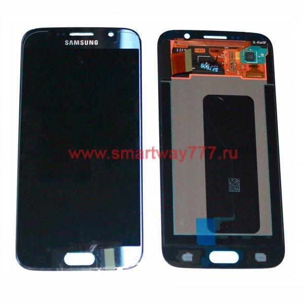 Дисплей для Samsung S6 / G920F Тёмно синий (100% ОРИГИНАЛ сервис)