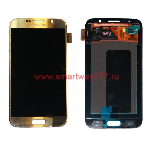 Дисплей для Samsung S6 / G920F Золотой (100% ОРИГИНАЛ сервис)